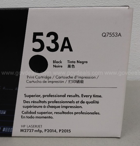 HP 53A BLACK TONER CARTRIDGE HP Q7553A M2727 MPF P2014 P2015