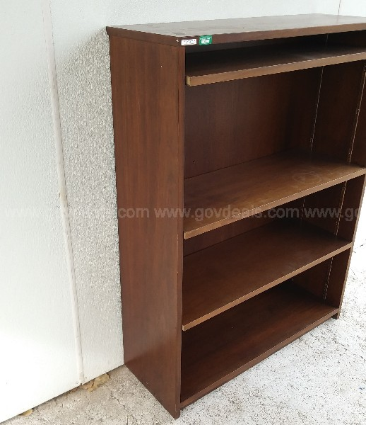 VINTAGE MAD MEN ERA WOOD BOOKCASE WALNUT