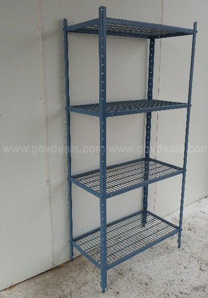 INDUSTRIAL HEAVY DUTY METAL SHELVE UNIT FREE STANDING