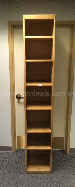 OAK FREE STANDING WOOD ADJUSTABLE SHELF