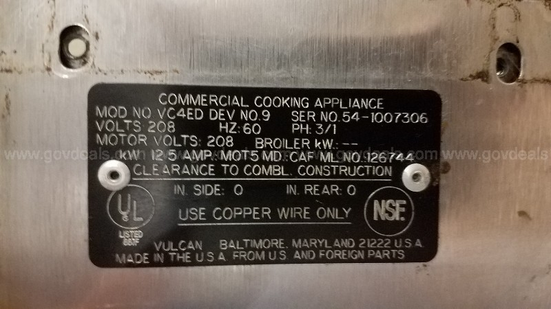 1998 Vulcan / Hobart Double Deck Electric Convection Oven