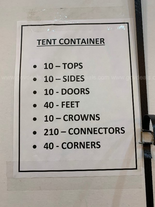 1 Lot of Tents