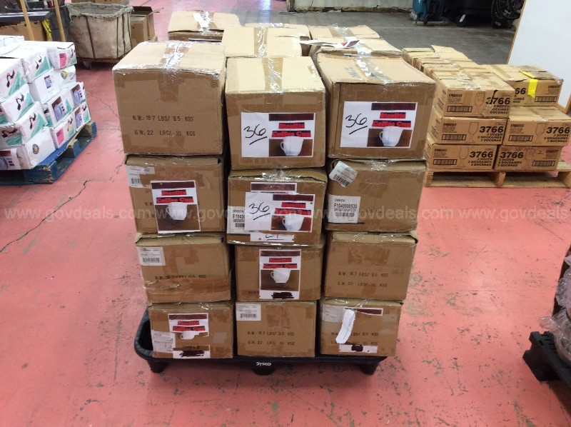 Pallet of Steelite Coffee Cups