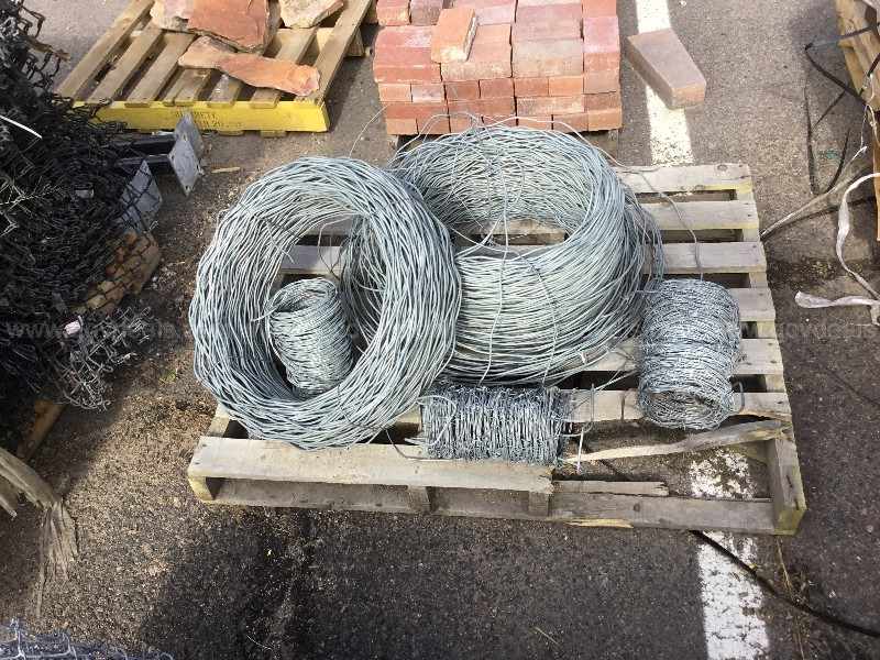 Pallet of Tension & Barb Wire