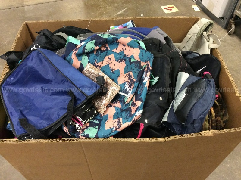 Large Box of Bags & Backpacks