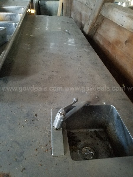 "Stainless Countertop with Utility Sink 9'9"" x 35 1/2"""