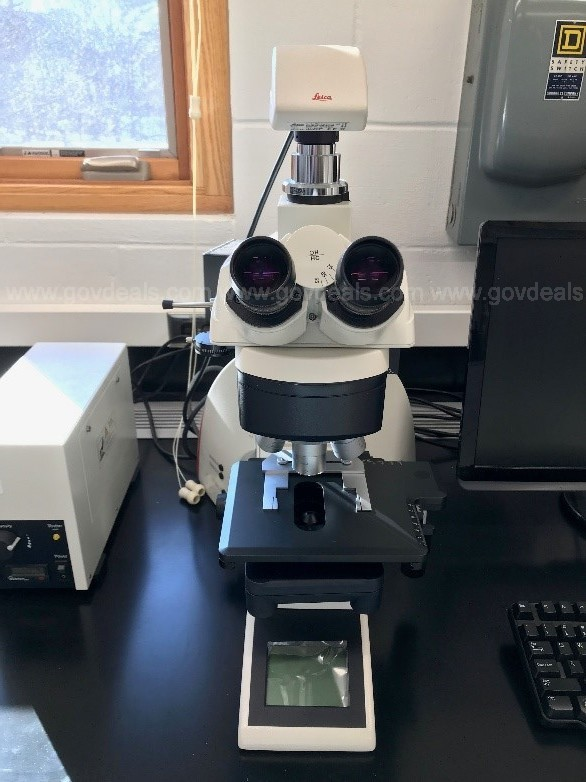 Leica Upright Light Microscope with Fluorescence Module