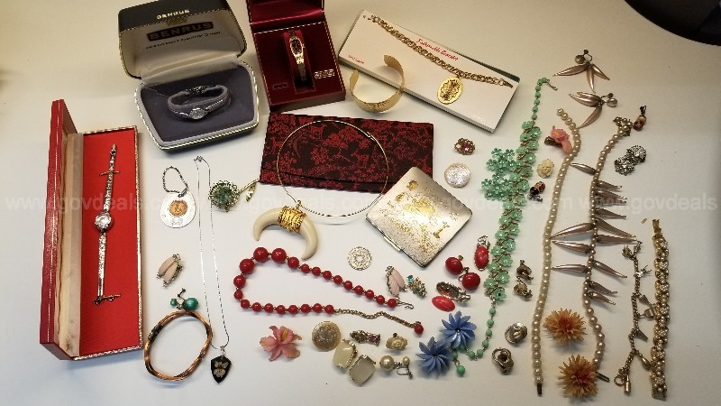 Lot Costume Jewelry and Watches