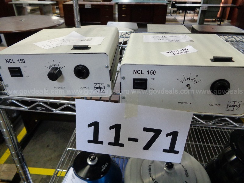 RE-11-71  Lot of (2) Volpi NCL 150 Amplifiers