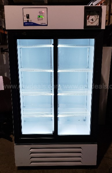 Fisher Scientific Isotemp Glass Front 2 Door Laboratory Refrigerator