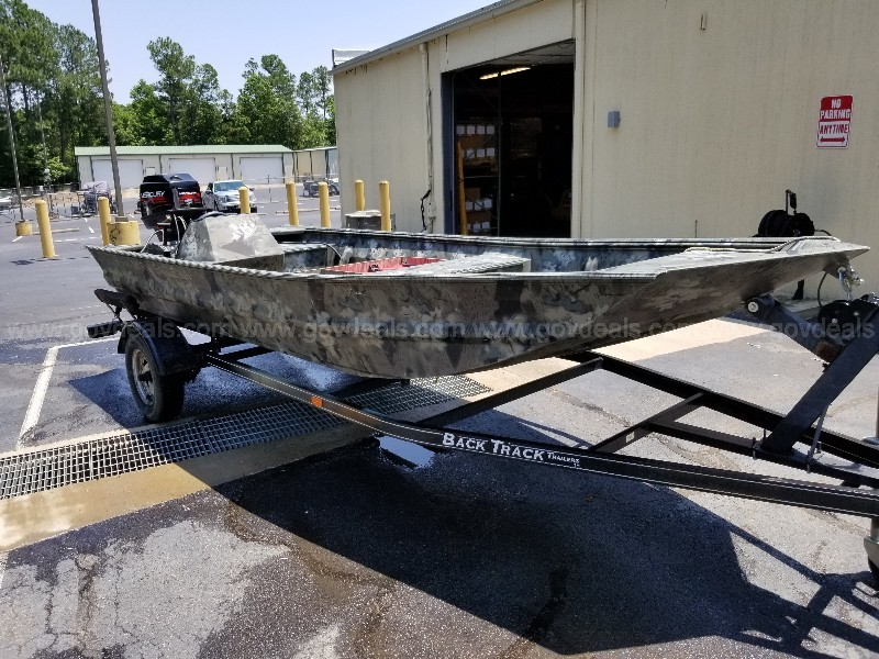 1998 1648 War Eagle Boat, motor, and trailer