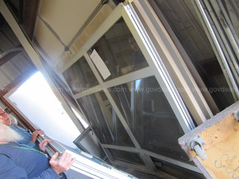 "Commercial Aluminum Frame Windows 78"" x 65"" - Two"
