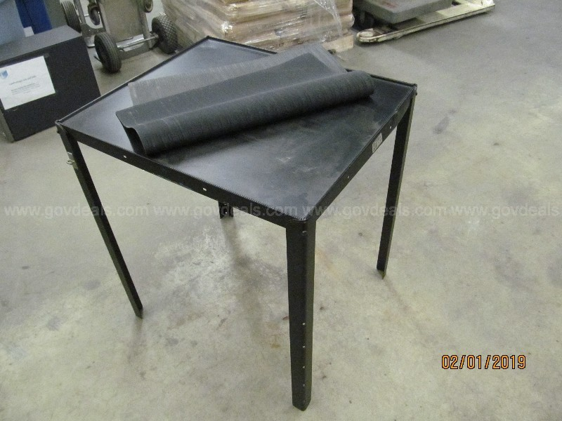 Small Black Metal End Table