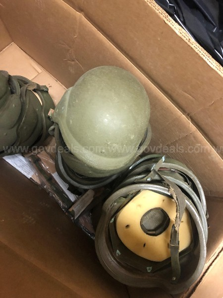 Lot of (15) Vintage Green Military Helmets With (9) Straps