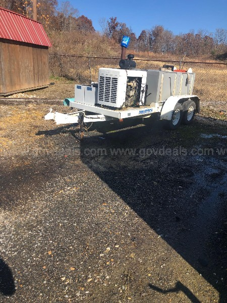 AquaTech SJ600 Trailer Jet Sewer Machine